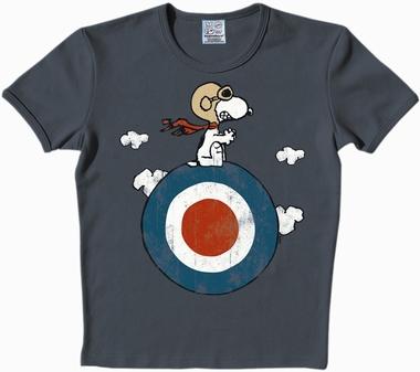 Logoshirt - Peanuts - Snoopy Target - Shirt Blau
