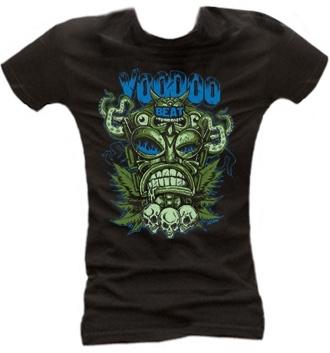 Tiki Totem black - Girl Shirt