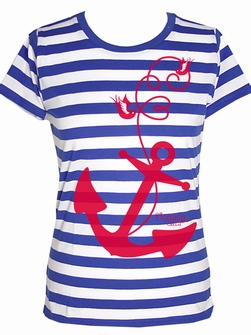 Come Aboard Streifen - Girl Shirt
