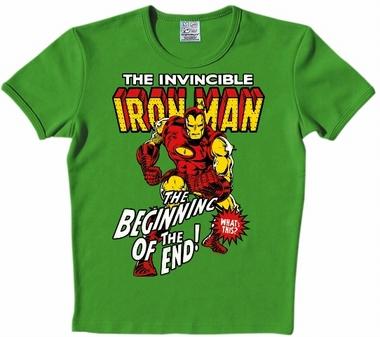 Logoshirt - Iron Man Shirt - Marvel - Gr�n