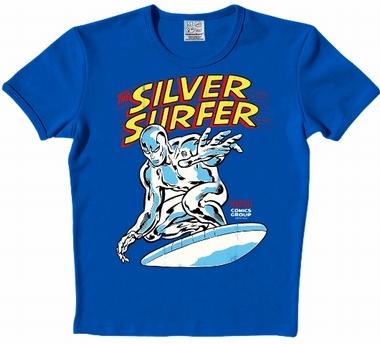 Logoshirt - Silver Surfer Shirt - Marvel - Blau