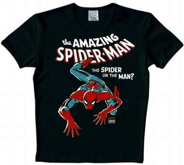 Logoshirt - Spiderman Shirt - Marvel - Schwarz