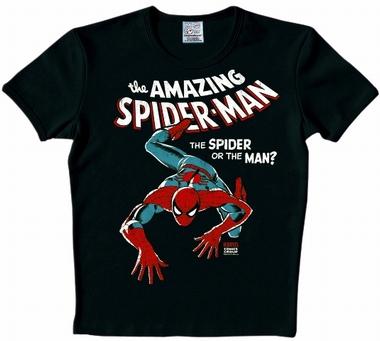 Logoshirt - Spiderman Kids Shirt - Marvel - Schwarz