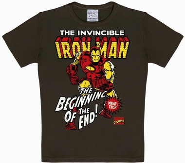 Logoshirt - Iron Man Kids Shirt - Marvel - Braun