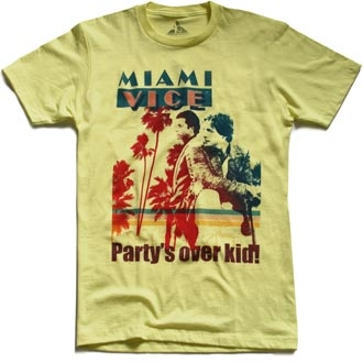 American Classics - Party is over - Shirt - hellgelb