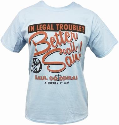 Breaking Bad T-Shirt Better Call Saul! Hellblau
