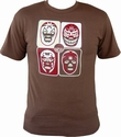 Mil Mascaras Shirt - 4 Mascaras - Brown Modell: BB013