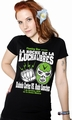 MEXICAN WRESTLING - GIRL SHIRT SCHWARZ