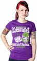 Mexican Wrestling Girl Shirt lila