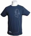 Dephect - Headphones - Shirt - Navy