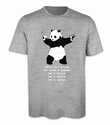 Destroy Racism Panda Shirt Banksy Men