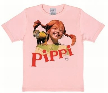 Kids Shirt - Pippi Langstrumpf mit Nilsson Rosa