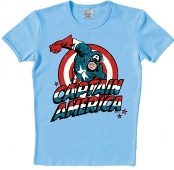 Logoshirt - Captain America Shirt - Marvel - Hellblau