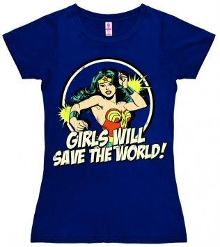 Logoshirt - DC Wonder Woman - Girls Will Save The World - Girl Shirt