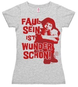 Logoshirt - Pippi Langstrumpf Faul sein - Girl Shirt