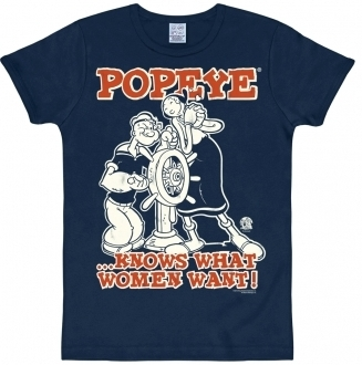 Logoshirt - Popeye Shirt Blau