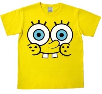 Logoshirt - Spongebob Face Shirt - Gelb