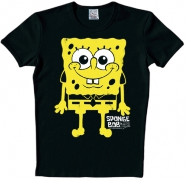 Logoshirt - Spongebob I am ready  Shirt - Schwarz
