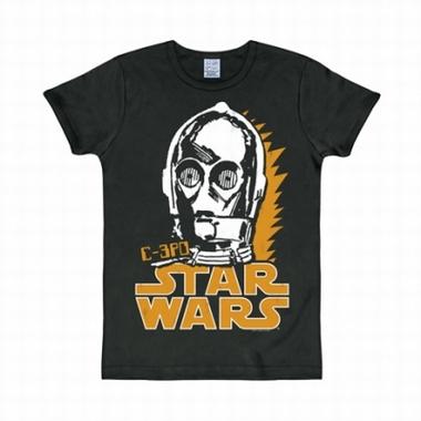 Logoshirt - Star Wars Shirt C-3PO Schwarz