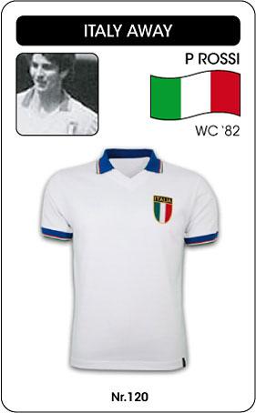 Italien Retro Trikot 1982 Auswärtstrikot