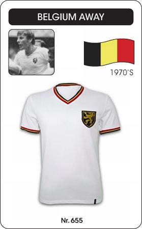 Belgien Retro Trikot Auswärtstrikot