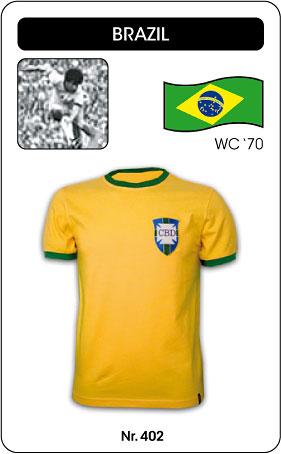 Brasilien Retro Trikot 1970