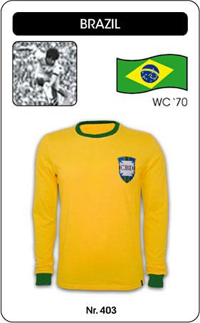 Brasilien - Brazil - World Cup 1970 - Trikot
