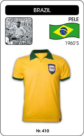 Brasilien Retro Trikot Gelb