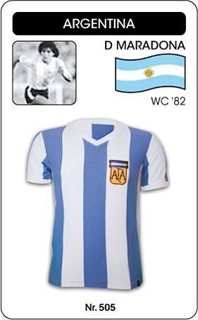 Argentinien - Argentina - Maradona Worldcup 1982 - Trikot
