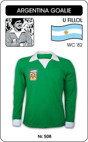 Argentinien Retro Torwarttrikot
