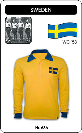 Schweden - Sweden - Sverige - World Cup 1958 - Trikot
