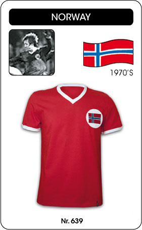 Norwegen Retro Trikot kurz