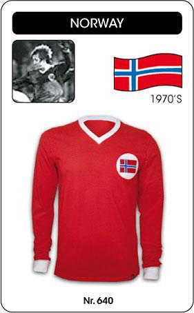 Norwegen Retro Trikot Langarm rot