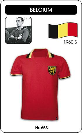Belgien Retro Trikot Rot