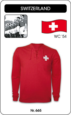 Schweiz - Switzerland - World Cup 1954 - Retro Trikot
