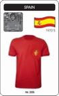 Spanien Retro Trikot Rot Modell: TRIK-205