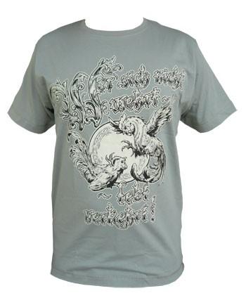 Shirt - Wer sich nicht wehrt - grau