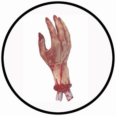 Abgetrennte blutige Hand - Klicken für grössere Ansicht