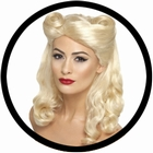 40er Jahre Pin Up Perücke blond