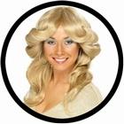 70er Jahre Föhnfrisur Perücke Blond