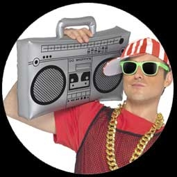 kost me von k 39 n 39 k aufblasbarer ghetto blaster costumes. Black Bedroom Furniture Sets. Home Design Ideas