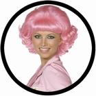Frenchy Perücke pink 50er Jahre