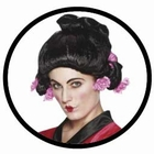 Geisha Perücke schwarz