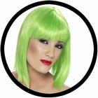 Glam Perücke Neon Grün