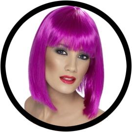 Glam Perücke Neon Violett - Klicken für grössere Ansicht