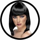 Glam Perücke schwarz