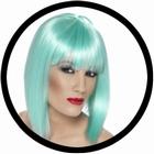 Glam Perücke Neon Türkis
