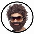 Hangover Kostüm Set - Bart, Brille und Perücke