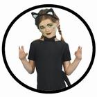Kinder Katzen Garnitur - schwarz