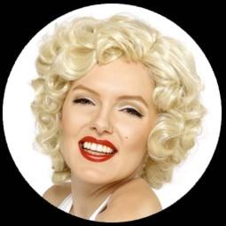 Marilyn Monroe Perucke Locken Blond